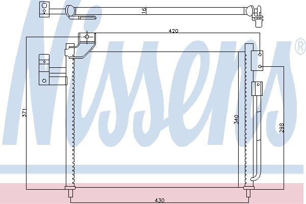 Радиатор кондиционера NISSENS 94760