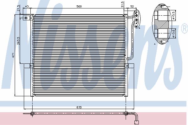 Радиатор кондиционера NISSENS 94761