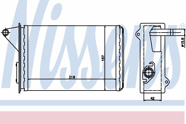 Радиатор отопителя NISSENS 71429