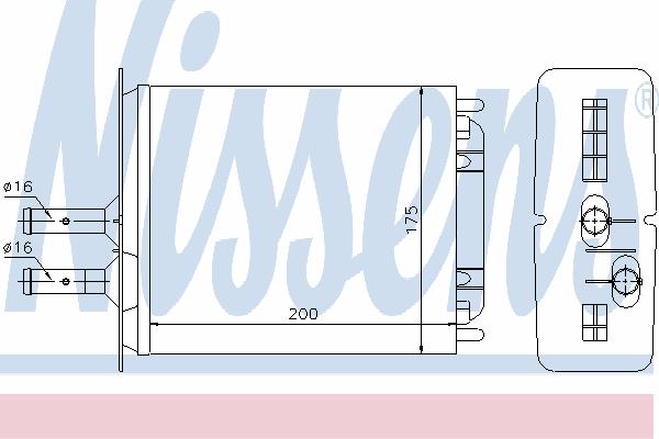 Радиатор отопителя NISSENS 71439