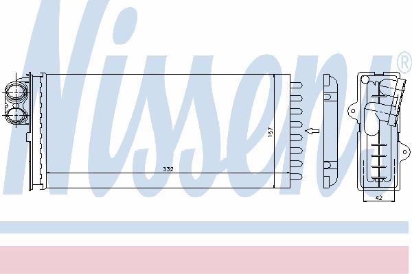 Радиатор отопителя NISSENS 73375