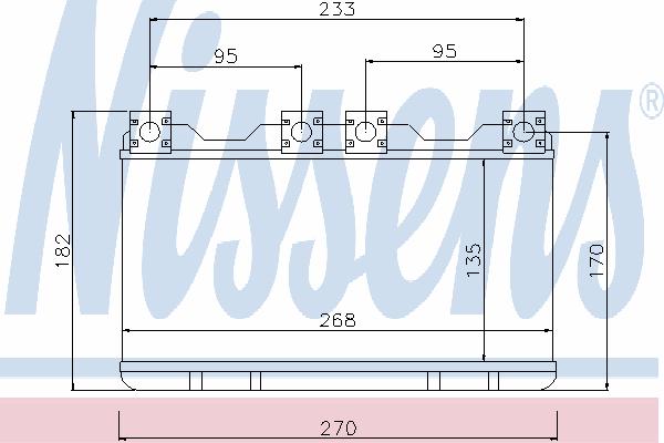 Радиатор отопителя NISSENS 70515