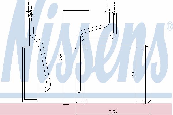 Радиатор отопителя NISSENS 71744