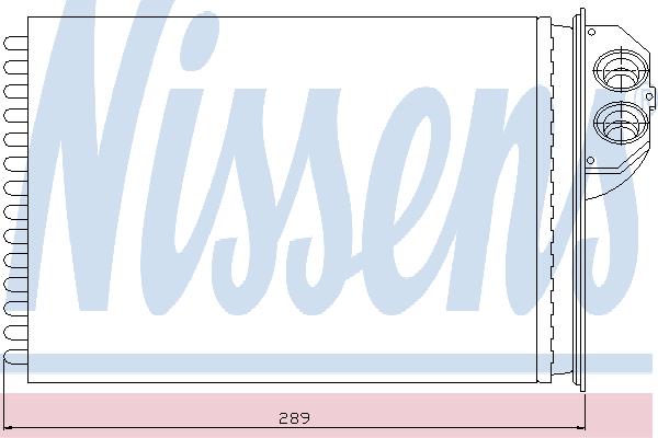 Радиатор отопителя NISSENS 72943
