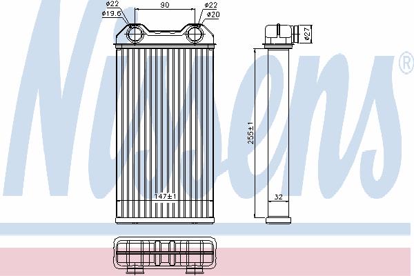 Радиатор отопителя NISSENS 73331