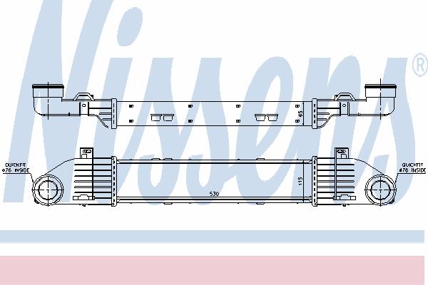 Интеркулер NISSENS 96787