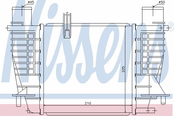 Интеркулер NISSENS 96645