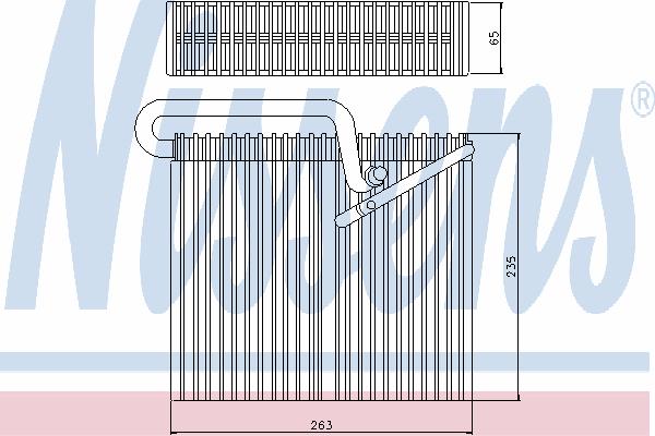 Испаритель кондиционера NISSENS 92190