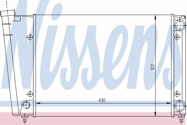 Радиатор, охлаждение двигателя NISSENS 65090