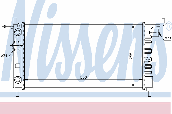 Радиатор, охлаждение двигателя NISSENS 63284