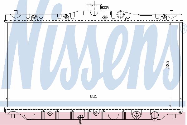 Радиатор, охлаждение двигателя NISSENS 63304