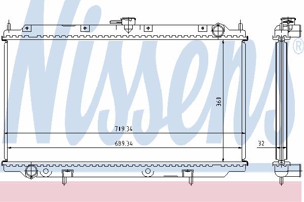 Радиатор, охлаждение двигателя NISSENS 62923A