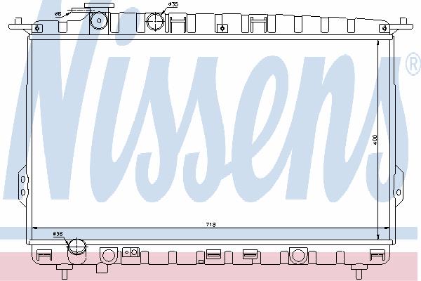 Радиатор, охлаждение двигателя NISSENS 67026