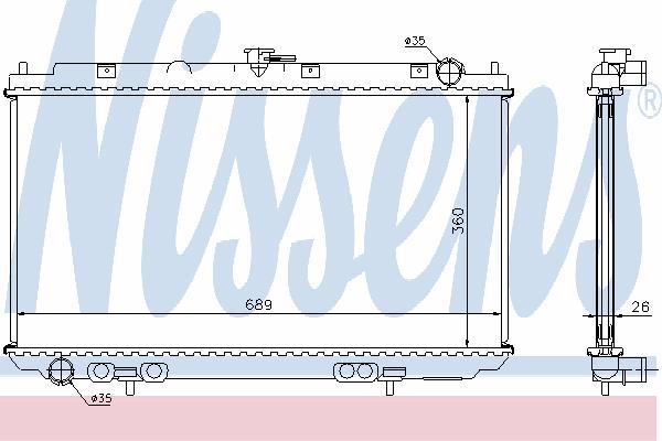 Радиатор, охлаждение двигателя NISSENS 67349A