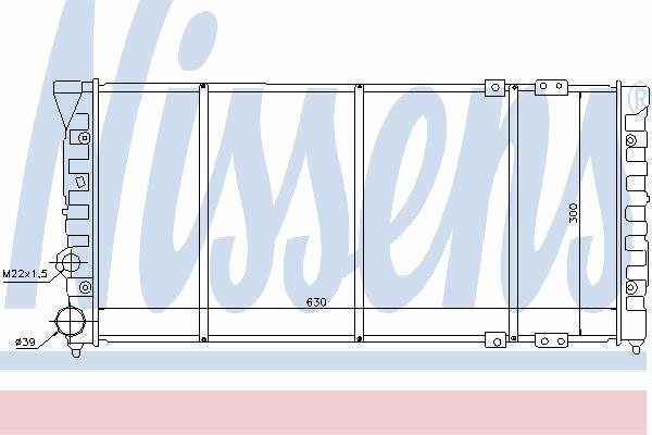 Радиатор, охлаждение двигателя NISSENS 65286