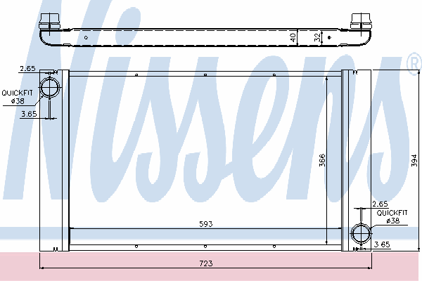 Радиатор, охлаждение двигателя NISSENS 60765