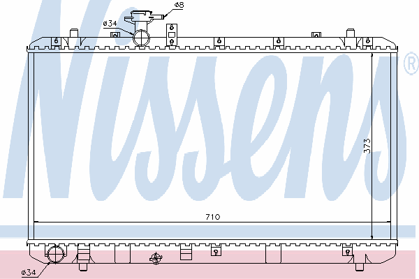 Радиатор, охлаждение двигателя NISSENS 64197