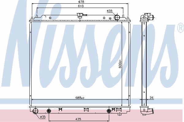 Радиатор, охлаждение двигателя NISSENS 69485