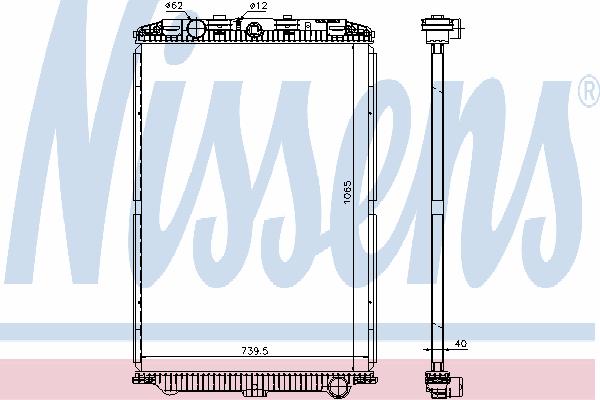 Радиатор, охлаждение двигателя NISSENS 614470