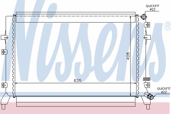 Радиатор, охлаждение двигателя NISSENS 65294