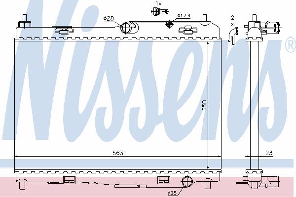Радиатор, охлаждение двигателя NISSENS 69235