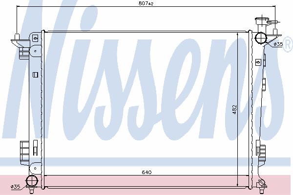 Радиатор, охлаждение двигателя NISSENS 67515