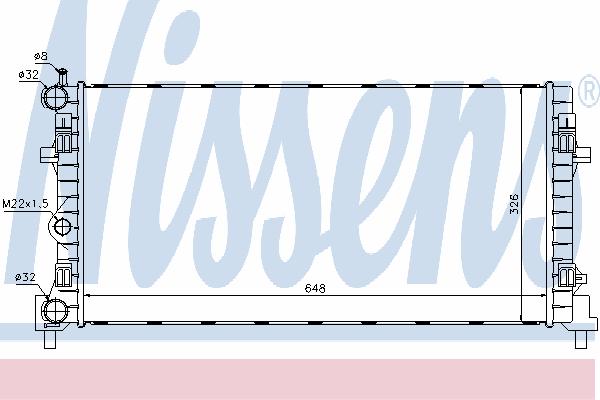 Радиатор, охлаждение двигателя NISSENS 640012