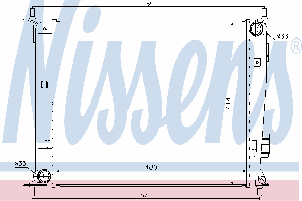 Радиатор, охлаждение двигателя NISSENS 66742