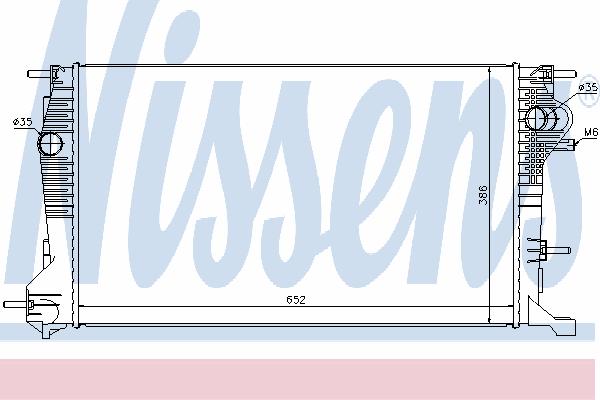Радиатор, охлаждение двигателя NISSENS 637617