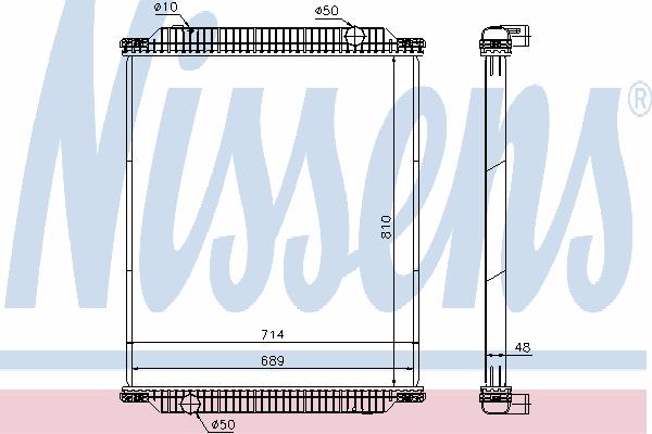 Радиатор, охлаждение двигателя NISSENS 672570