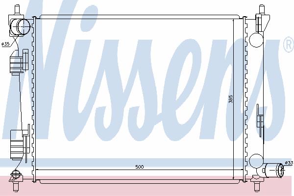 Радиатор, охлаждение двигателя NISSENS 66756