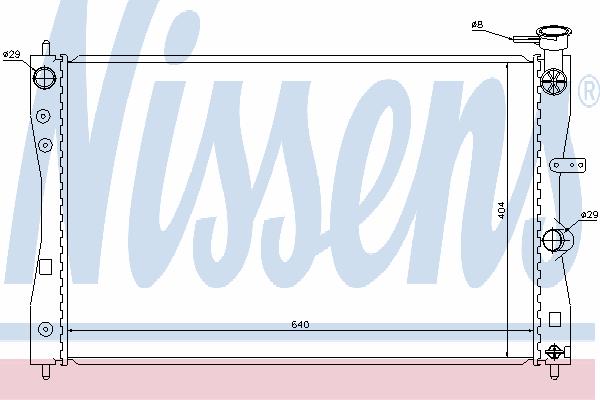 Радиатор, охлаждение двигателя NISSENS 68183
