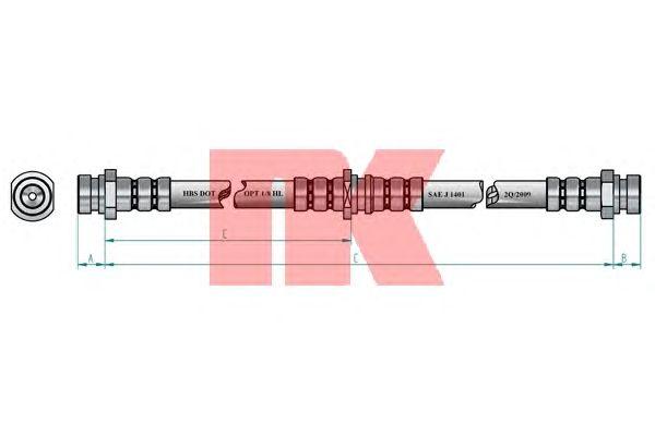 Тормозной шланг NK 853054