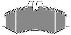 Тормозные колодки MAPCO 6522
