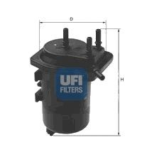 Топливный фильтр UFI 24.013.00