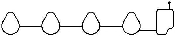 Прокладка впускного коллектора AJUSA 13185000