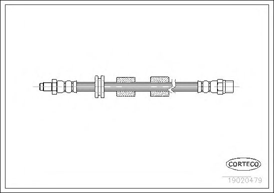 Тормозной шланг CORTECO 19020479