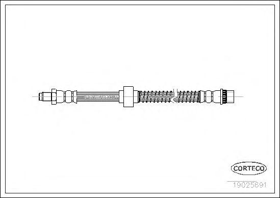 Тормозной шланг CORTECO 19025691