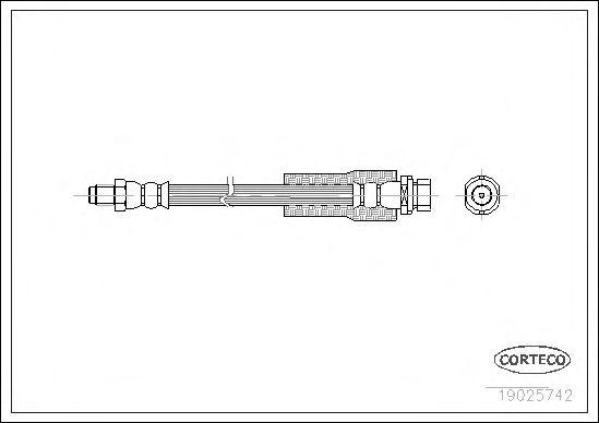Тормозной шланг CORTECO 19025742