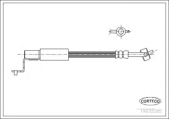 Тормозной шланг CORTECO 19032285