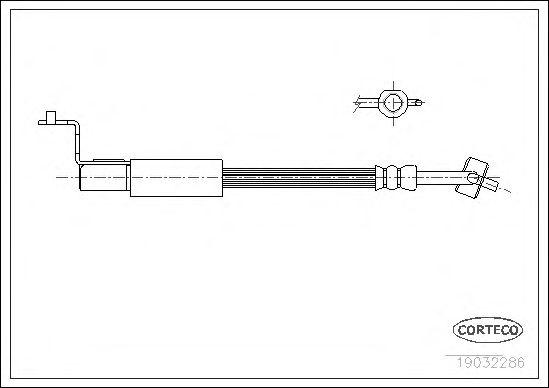 Тормозной шланг CORTECO 19032286