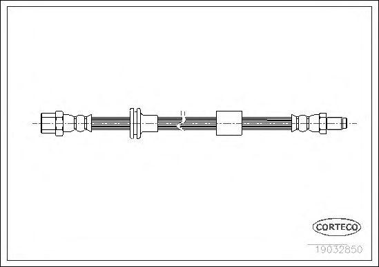 Тормозной шланг CORTECO 19032850