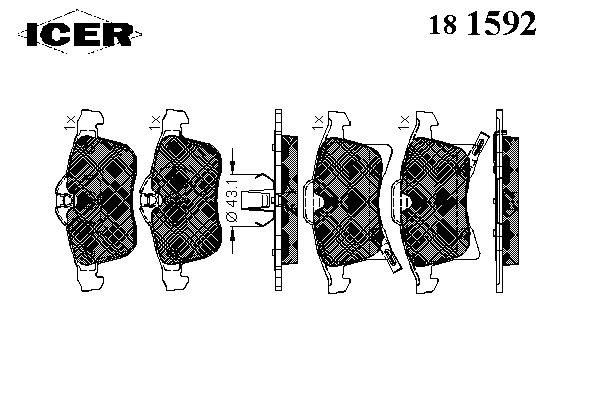 Тормозные колодки ICER 181592