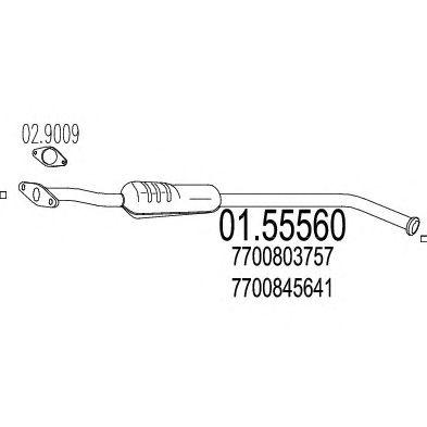 Резонатор MTS 01.55560