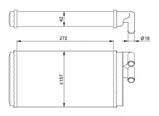 Радиатор отопителя NRF 50602