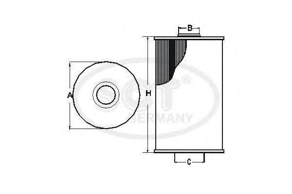 Масляный фильтр SCT Germany SH 4051 P