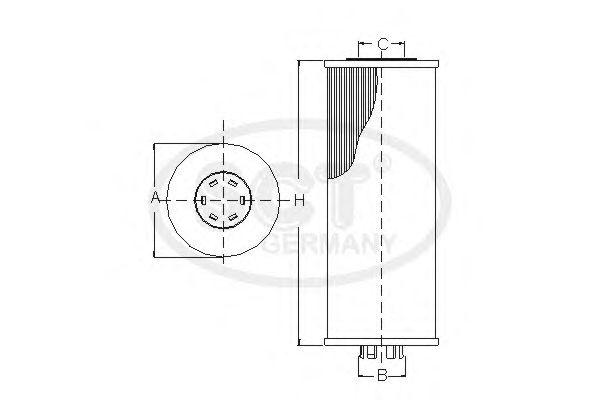 Топливный фильтр SCT Germany SC 7055 P