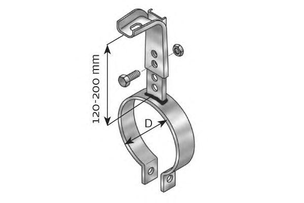 Кронштейн выпускной системы DINEX 98102