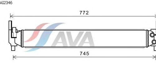Радиатор, охлаждение двигателя AVA QUALITY COOLING AI2346