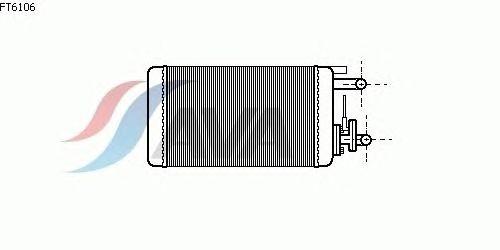 Радиатор отопителя AVA QUALITY COOLING FT6106